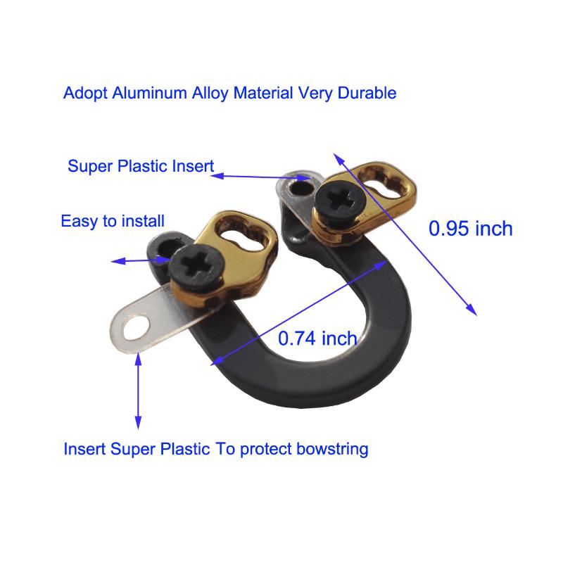Perfeclan D Loop Jagd Verbindung Bogen Durable Aluminium Release Metall Ring f/ür Verbindung Bogen Bowstring Bogenschie/ßen Pfeil Zubeh/ör mit Installation