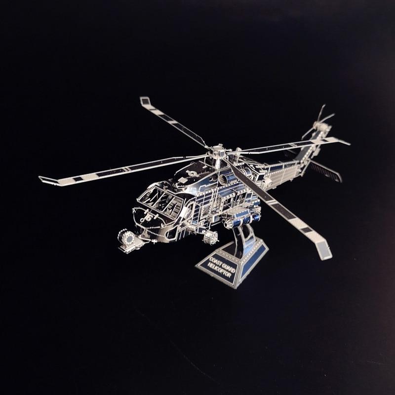 COAST GUARD HELICOPTOR NANYUAN D12201 Puslespil 3D DIY Metal Assembly Model 1: 100 Et ark Legetøj og gave Boligindretning ornamenter