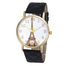 Important Wristwatch Bangle Bracelet Eiffel Tower Ladies Fake Leather-based Analog Quartz Wrist Watches reloj mujer 17Tue21