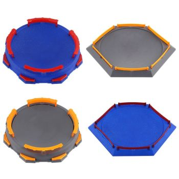 2019 Popular Arena Disk For Beyblade Burst Gyro Exciting Duel Spinning Top Stadium Battle Plate Toy Accessories Boys Gift Kids beyblade arena blue pvc plastic arena stadium