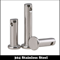 M3 M3*16 M3x16 M3*20 M3x20 M3*25 M3x25 304 Stainless Steel DIN1444 Flat Head Cylindrical Round Dowel Hole Clevis Pin With Head