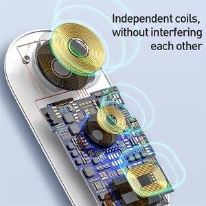 Image 3 - Baseus 3 Trong 1 Sạc Không Dây Qi Cho Đồng Hồ Apple Cho iPhone XS X Samsung S10 10W 3.0 Nhanh sạc Cho Tôi Dây Và Tai Nghe