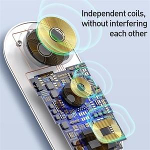 Image 3 - Baseus cargador inalámbrico 3 en 1 Qi para Apple Watch, para iPhone XS, X, Samsung S10, 10W, 3,0, carga rápida para i Watch y auriculares