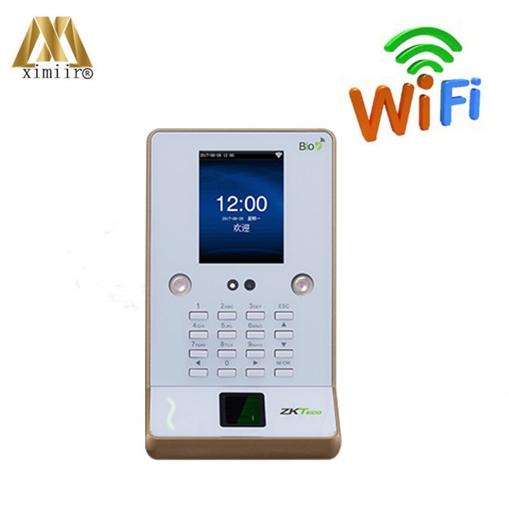 цена ZK UF600 Face Recognition Time Attendance And Access Control WIFI USB Facial And Fingerprint Employee Attendance Time Clock онлайн в 2017 году