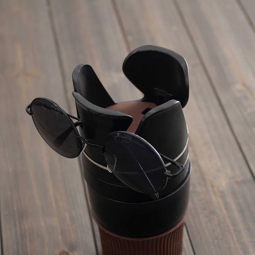 Auto Tasse Trinken Telefon Halter 5 in 1 Multi-Funktionale Tassen Organizer Abnehmbare Auto Tasse Halter (Schwarz)