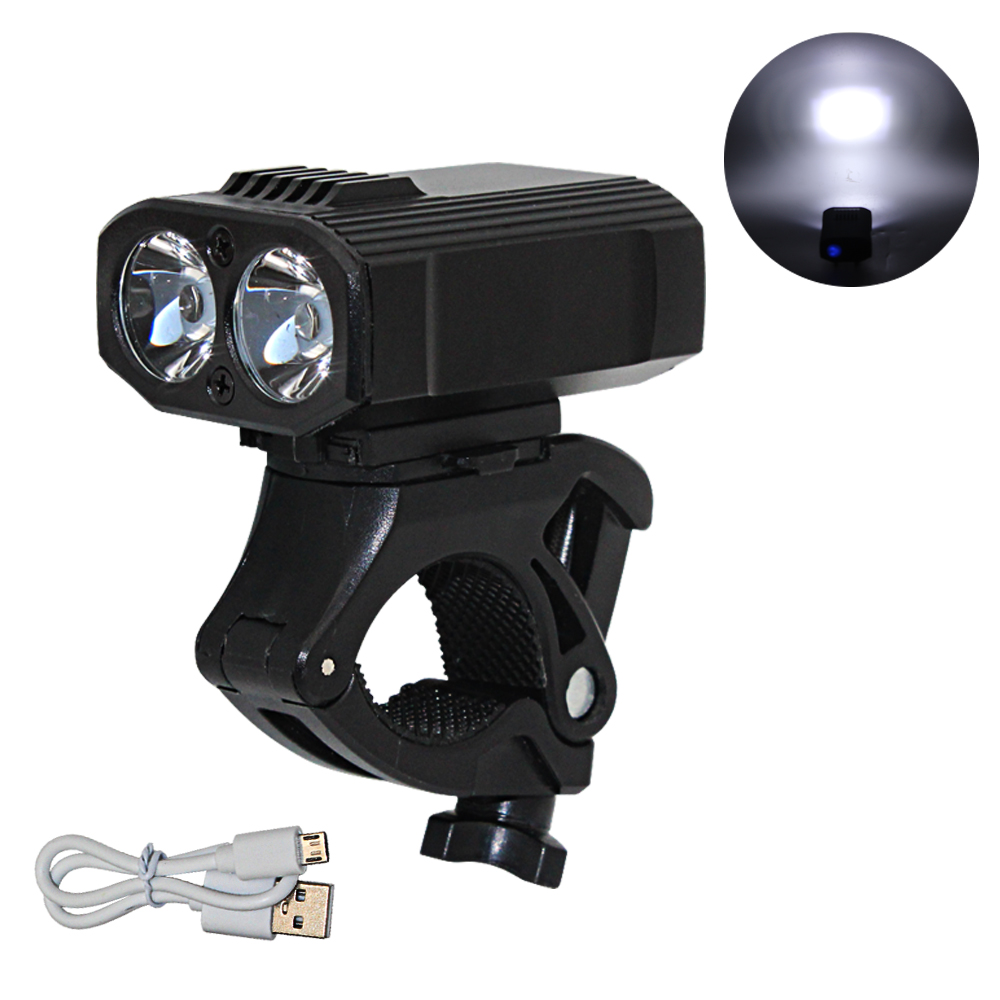 Led Flashlights T6 Led Outdoor Flashlight Torch Bicycle Light Bike Front Lamp Headlight Usb Rechargeable Built-in Battery Bike Front Light Led Lighting