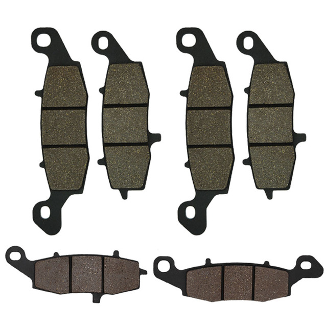 Cyleto Motorcycle Front and Rear Brake Pads for KAWASAKI KZ1000 KZ 1000  Police 2002-2005 VN1500 VN 1500 Nomad 2000-2003