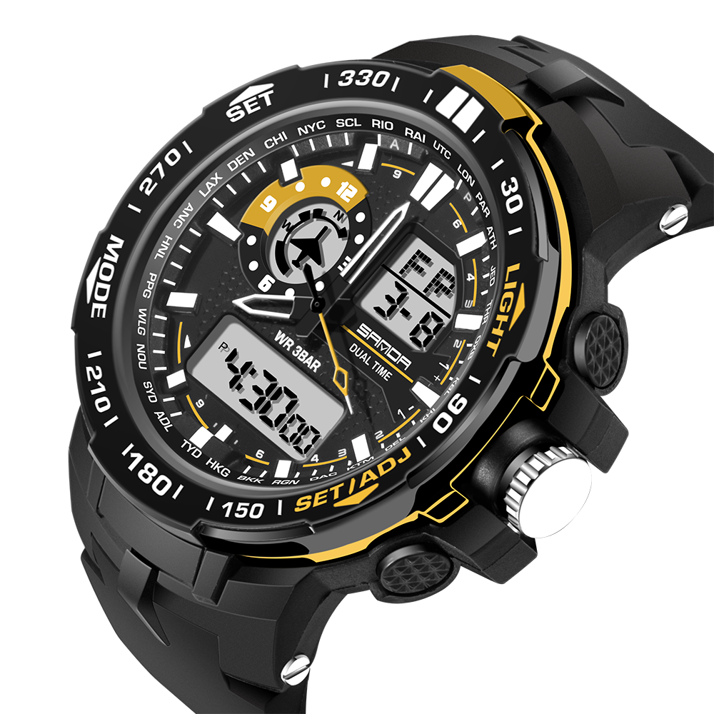 800d8ec21e5a LOS Deportes de LOS HOMBRES de Natación al aire libre hombres reloj  Original de la Marca SANDA S choque Reloj Digital Quantz masculino  Estudiante pantalla ...