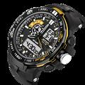MEN Sports Swim outdoor men wristwatch Original SANDA Brand S shock Clock Digital Quantz masculino Student Dual display dz watch