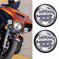 "Passando lâmpada para harley  integrado 4.5 ""30 w led moto luz auxiliar  4 1/2 Polegada para harley motocicleta passando luz|passing lamps harley -"
