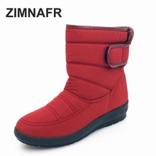 Winter mather snow boots winter waterproof non-slip soft bottom women boots velvet warm light comfort meddle boots winter shoes