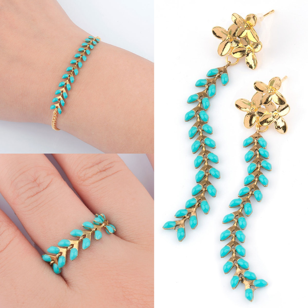 doreen-box-copper-spiky-chains-findings-gold-color-green-black-multicolor-enamel-7x6mm-2-8-x-2-8-fon