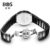 Angela bos señoras de cerámica par de reloj de cuarzo relojes de marca de lujo mujeres reloj de moda 2016 relojes de pulsera para mujer montre femme