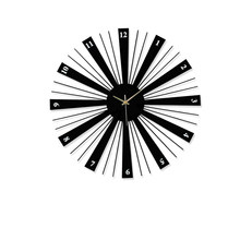 Metal Creative Wall Clocks Large Decorative Silent Black Wooden Wall Clock Living Room Big Art Design Clock on The Wall Heat(China)