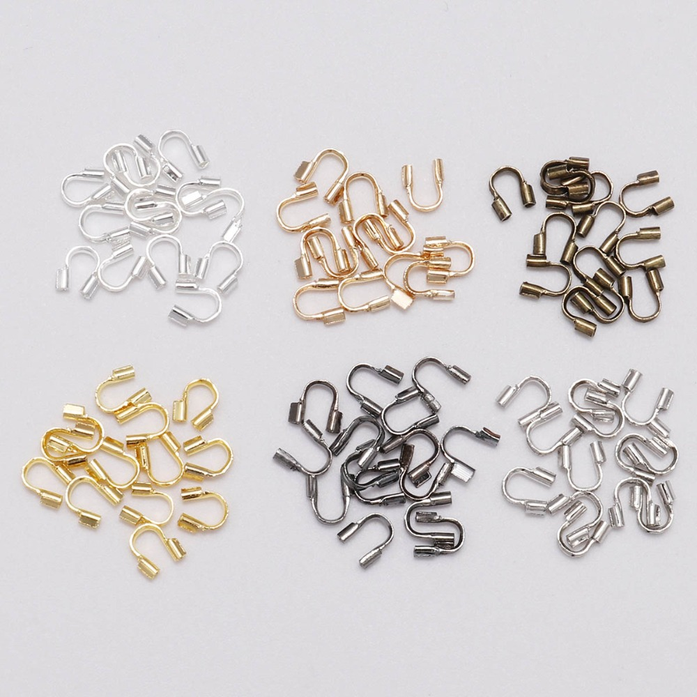 100pcs/lot 4.5x4mm Wire Protectors Wire Guard Guardian Protectors loops U Shape Accessories Clasps Connector For Jewelry Making100pcs/lot 4.5x4mm Wire Protectors Wire Guard Guardian Protectors loops U Shape Accessories Clasps Connector For Jewelry Making