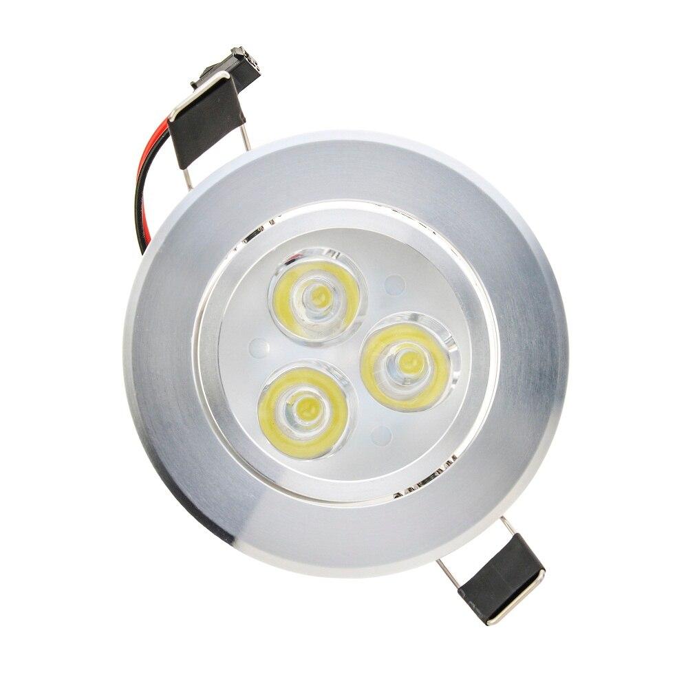 10 шт. Ультра-яркий 3 Вт 6 Вт потолочные встраиваемые светодиодные светильники круглый Панель с подсветкой Панель лампа свет