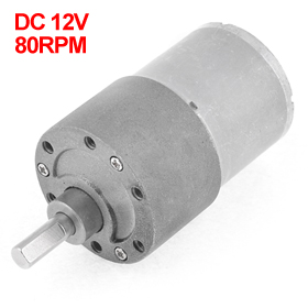 UXCELL Hot Sale 1 Pcs 12V 80RPM Output Speed Cylinder Shape DC Gearbox Geared Motor цена