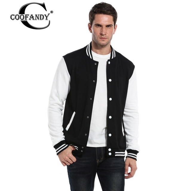 COOFANDY Men Baseball Coat autumn Winter Fashion Long Sleeve Button Front Cotton Bomber Baseball Jacket US size S/M/L/XL/XXL
