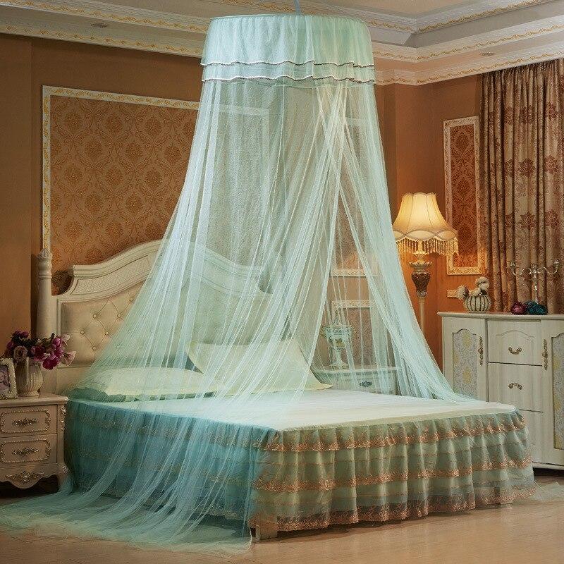 2018 Zanzariera Baby Children Elegant Lace Bed Dome Elegent House Netting Canopy Circular Malla De Round Bedding Mosquito Net in Mosquito Net from Home Garden