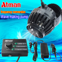 ATMAN Mini Frequency Conversion Wave making Pump For Fish Tank Quiet Excrement Blowing Small Surfing Pump 5 Modes 6 Speeds