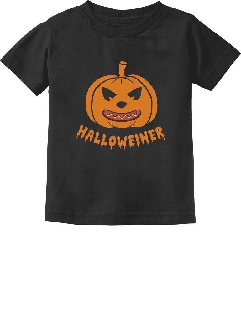 Halloweiner Funny Pumpkin Hot-Dog Halloween Toddler T-Shirt Jack O Lantern 2T