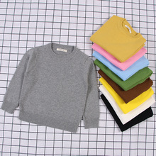 2018 Autumn Baby Boys Girls o-neck Sweaters Sweater Kids Sweaters For Winter Knitted Bottoming Boys Sweaters Vetement Enfant 2018 autumn winter knitted sweaters pullovers warm sweater baby girls clothes children sweaters kids boys outerwear coats