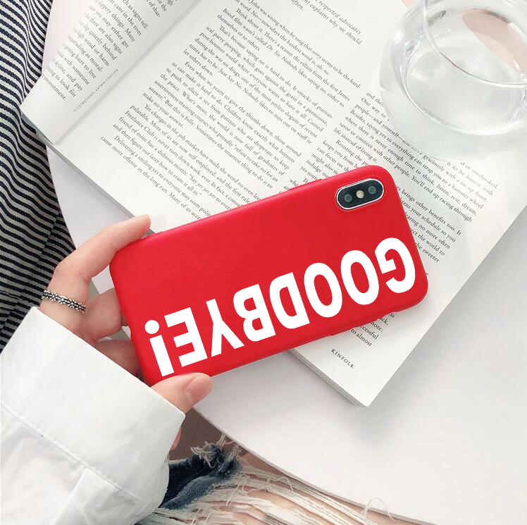 new product 637aa 3b9e2 US $1.92 29% OFF|goodbye phone Case Cover for iPhone X XR XS XS Max 6 6s 7  7plus 8 Plus Kendall Jenner Goodbye Phone Case Soft Silicone cover-in ...