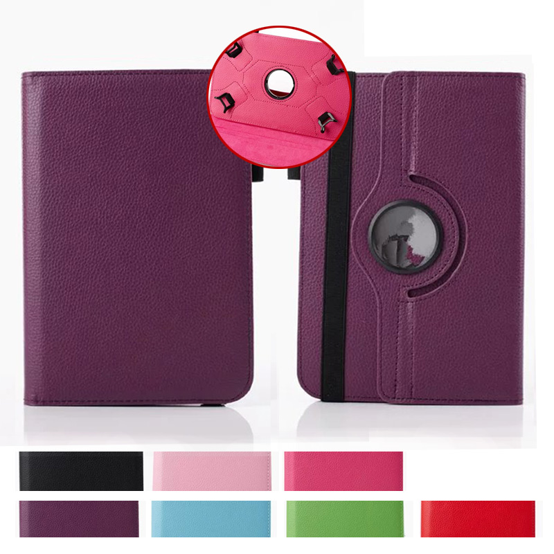 For Aoson M721/ M725G /M787T tablet case Flip Stand pu Leather 360 Rotating Cover For 7 inch Universal Protective bags+Film