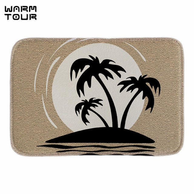 Warm Tour Beach Clipart Home Decorative Doormats Black And