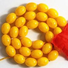 Oro amarillo cera de abejas sintética resina 6X9 8X11 10X13 12X16 13X18mm arroz barril de perlas sueltas prensadas Bohemia accesorios de 15 pulgadas B48