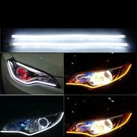 2pcs Car 60cm Daytime Running LED 12V Light Strip Flexible Soft Tube Guide For Headlight DRL