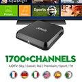 M8S BOX Set Tv Box 2G 8G Receptor de Iptv Europa 1700 + Canais de Tv ao vivo Francês Espanhol Portugal Suécia Holanda IPTV Ao Vivo esportes