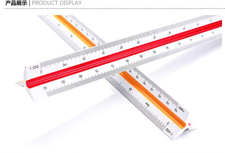 New Hotsale  Plastic Triangula Scale Ruler (1:100_1:500) 30cm Designers Office Achitect School Student Engineering Drawing