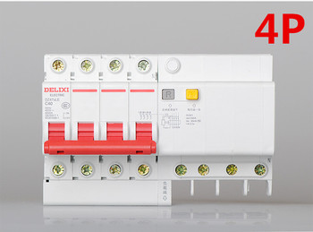DZ47sLE 4P 6A 10A 16A 20A 25A 32A current Circuit breaker with over current and Leakage protection, air break switch