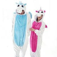 New Flannel Unicorn Pijama Cartoon Cosplay Adult Unisex Homewear Cute Onesies For Adults Animal Pajamas Women