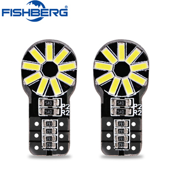 FISHBERG 2x Canbus T10 LED W5W Car LED Auto Lamp Light Bulbs 4014 SMD Light 12V For Ford Focus 2 3 Fiesta Mondeo Ecosport Kuga image