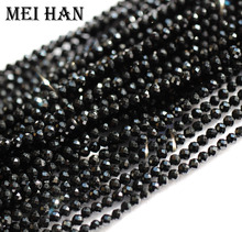Meihan الطبيعية 2 مللي متر (10 السواحل/مجموعة) الخرز البذور سبينيل الأوجه الجولة للمجوهرات تصميم الثمينة حجر الموضة سوار ذاتي الصنع