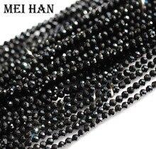 Meihan natural 2mm (10 fios/conjunto) sementes spinell contas facetadas redondas para design de jóias preciosa moda pedra diy pulseira
