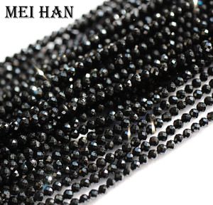 Image 1 - Meihan natural 2mm (10 strands/set) spinell seed beads faceted round for jewelry design precious fashion stone diy bracelet