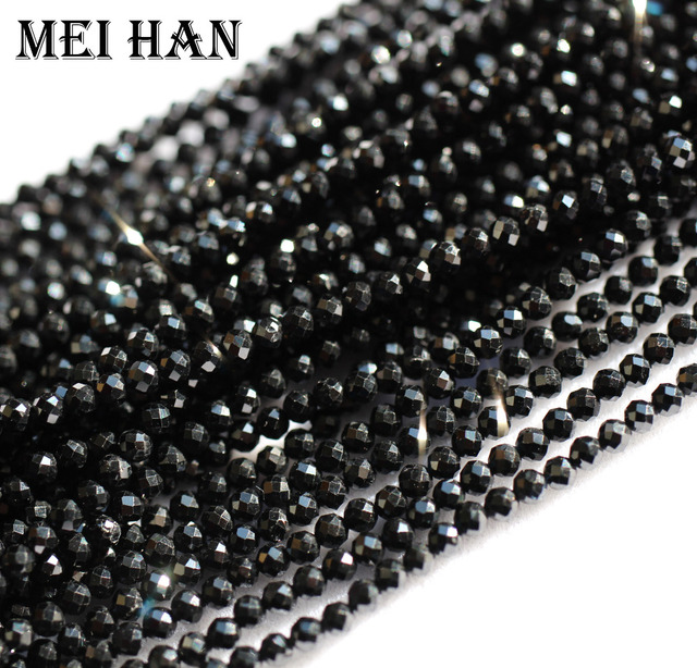 Meihan natural 2mm (10 strands/set) spinell seed beads faceted round for jewelry design precious fashion stone diy bracelet