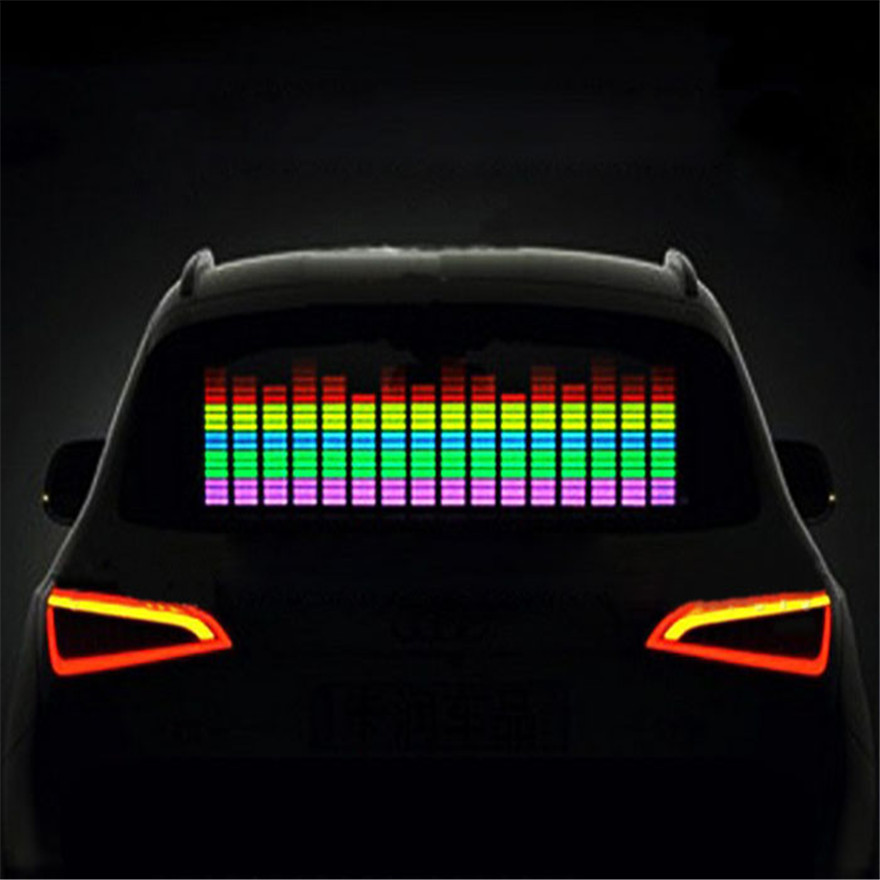 different sizes car sticker music rhythm led flash light lamp sound activated equalizer in. Black Bedroom Furniture Sets. Home Design Ideas