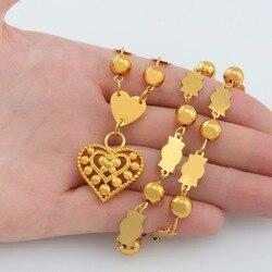 Anniyo Маршалл Гавайи бусы ожерелья Гуам мяч цепи новый для Для женщин кулон сердце острова Jewellery Микронезия подарки #133906
