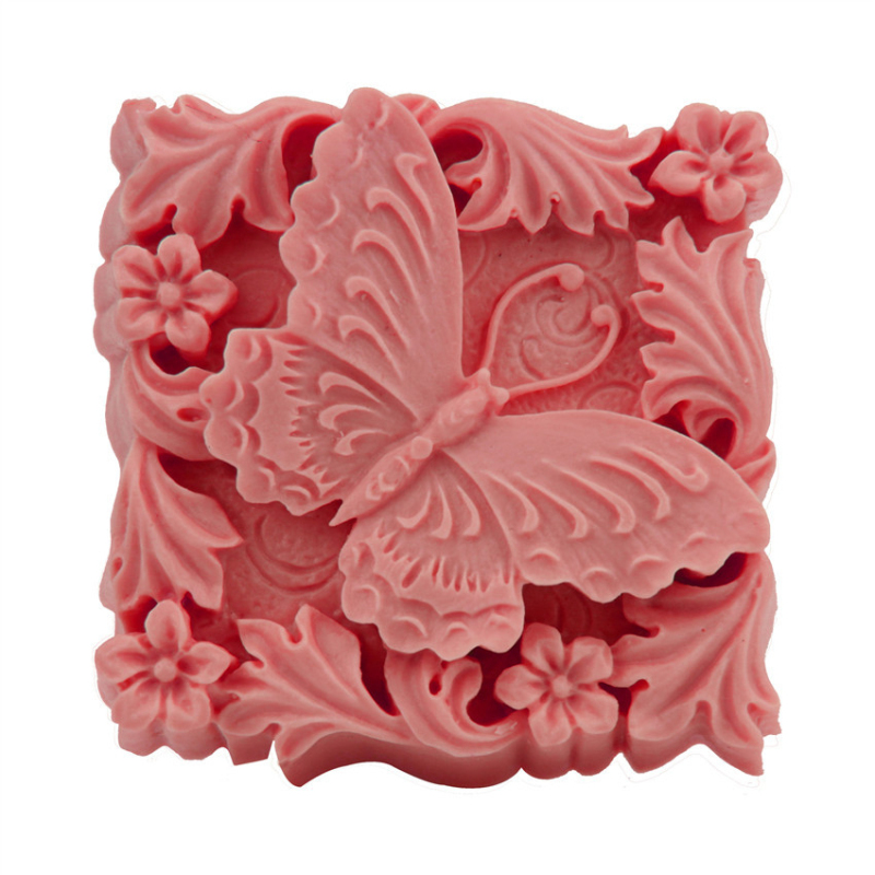 3D Large Silicone Forms Mould For Soap Making Butterfly Square Candle Mold Handmade Flower Fondant Jelly DIY Craft Tool Supplies