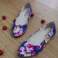 Flower Print Women Shoes Woman Ballerinas Large Size 42 Womens Loafers Ladies Shoes Ballet Women Flats Zapatos Mujer WSH2223