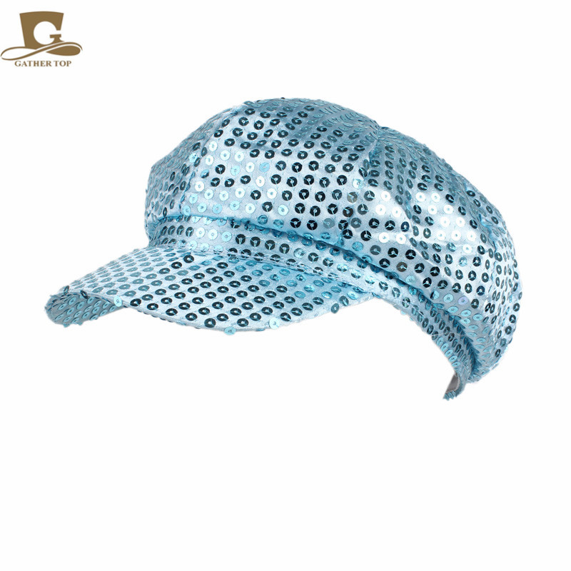 e8a676aaaa69d9 Aliexpress.com : Buy New Sparkly Sequin Newsboy Cap Diva Hat Disco Rave  Girls Costume Visor Beret Cap from Reliable beret cap suppliers on  GATHERTOP ...