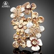 Azora stellux cristal austriaco abejas recolectan el flores de color oro multicolor anillo tr0030