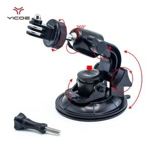 Image 2 - 9CM Car Suction Cup For GoPro Hero 7 6 5 4 3 Accessories Tripod Adapter Holder Sucker Xiaomi Yi SJCAM SJ4000 Action Sport Camera