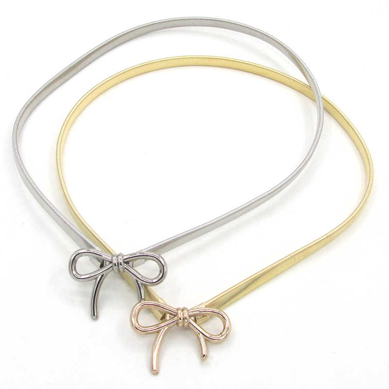 Femmes mode ceinture en métal élastique fleur torsion réglable ceinture de luxe Designer qualité dames robe ceinture cinturon mujer cinturon