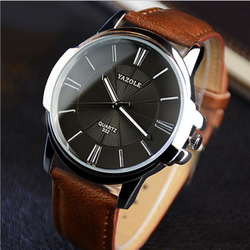 YAZOLE Wrist Watch Men Watch Fashion Luminous Men's Watch Mens Watches Top Brand Luxury Clock saat erkek kol saati reloj hombre 2018 fashion watch men retro design leather band analog alloy quartz wrist watch erkek kol saati