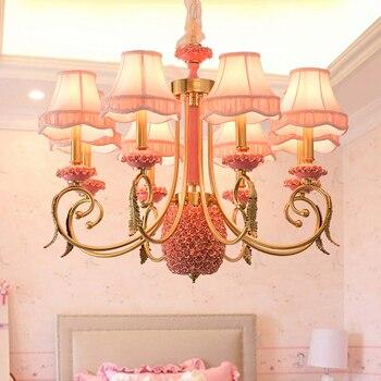 Гостиная люстра современный все медные керамическая столовая лампа творческая личность спальня огни Европейский стиль исследование лампы...
